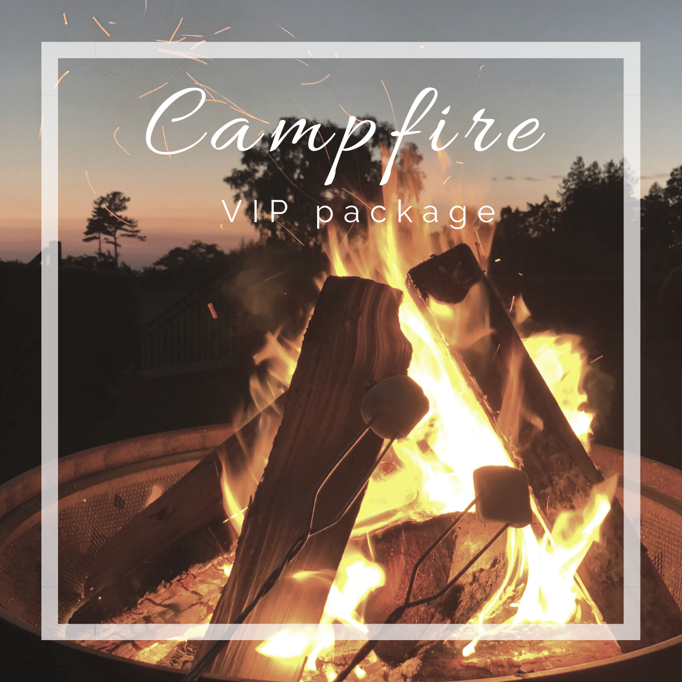 Happy Camper Adventures VIP Campfire package