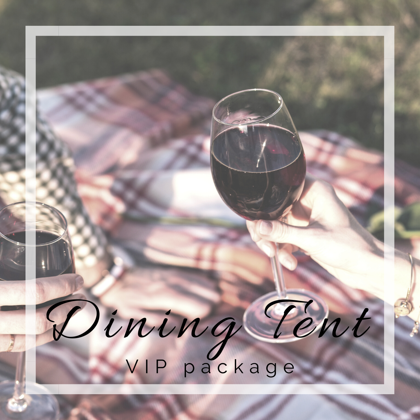 Happy Camper Adventures VIP Dining Tent package